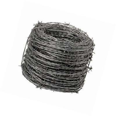 Wolfpack 1130005 Galvanized Barbed Wire 4/15 Roll of 250 Metres