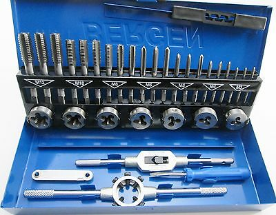 32pc Metric Tap and Die Set M3 - M12 1st 2nd & Plug Finishing US PRO 2625
