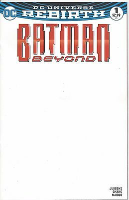 BATMAN BEYOND #1 BLANK  Variant Cover VF-NM