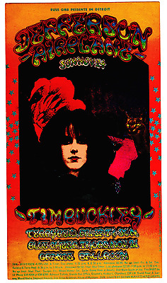 Jefferson Airplane - Grande Ballroom 1968 - original postcard