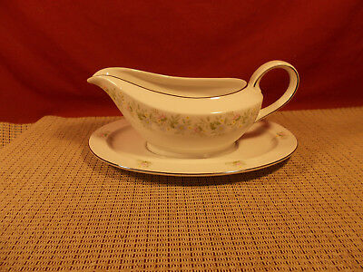 Johann Haviland China Forever Spring (Bavaria) Gravy Boat w Underplate
