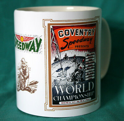 Coventry Speedway.world Championship.1957.vintage Programme Design Mug.new