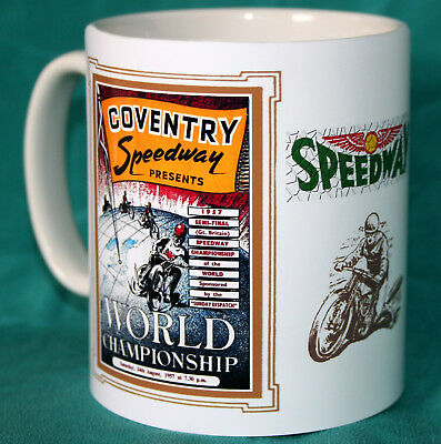 Coventry Speedway.world Championship Semi.1957.vintage Programme Design Mug.new