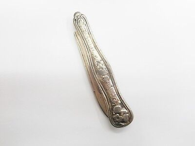 T&W Tifft & Whiting Vintage Antique 800 Coin Silver Pocket Knife Toothpick #3861