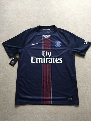 PSG Paris Saint-German Shirt, AUTHENTIC! 2016 Size Large.