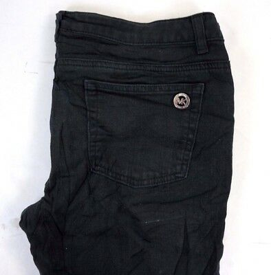 8cc33375f153 MICHAEL KORS IZZY Black Skinny Mid Rise Cropped Jeans Trousers Uk 6 ...