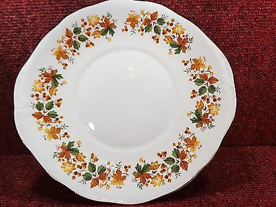 """QUEEN ANNE """" MEDINA"""" Autumn Berries & Foliage 10"""" CAKE PLATE - FREE UK POSTAGE"""