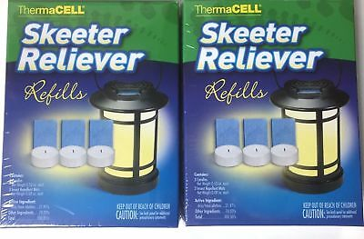 """(2) ThermaCELL """"Skeeter Reliever"""" Refill Packs   (3 Mats, 3 Candles) each"""