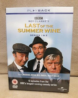 Last Of The Summer Wine Series 1&2 Complete DVD Box Set 2002 4-Disc Xmas Gift