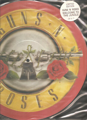 "GUNS N' ROSES ""Welcome To The Jungle"" 1987 Geffen Picture Vinyl 12"""