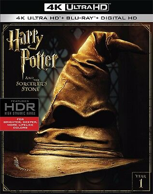 HARRY POTTER & THE SORCERER'S STONE (4K ULTRA HD) - Blu Ray -  Region free