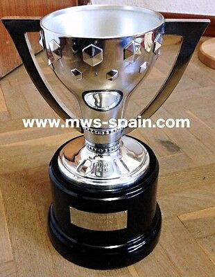 Real Madrid Spanish League 2007 - 2008 Winners Silver Trophy Museum Reproduction