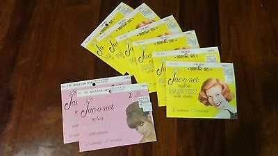 Lot 8 pkg (16) Jac-O-Net Vintage GREY HairNet: 6 of Bouffant #255, 2 of #156 Reg