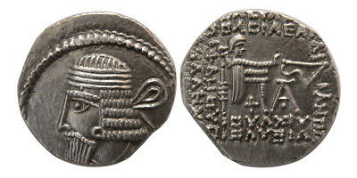 PCW-PA1415-KINGS of PARTHIA. Vologases I. second reign, ca. AD 58-77. AR Drachm.