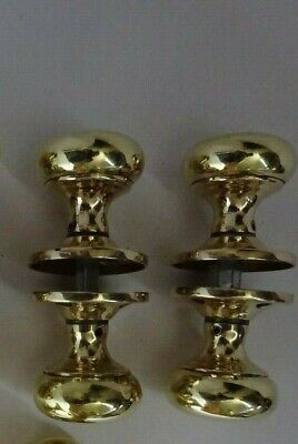 Vintage Pair Of CRoft BUn Solid Brass Door Knobs Handles