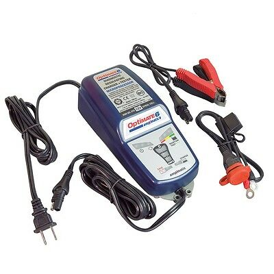 Chargeur Optimate 6 12V 5A pour batterie acide STD AGM et GEL automatique