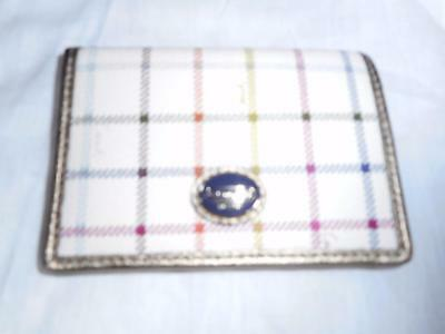 Nwt Authentic Coach Peyton Tattersall Card Case  #62036