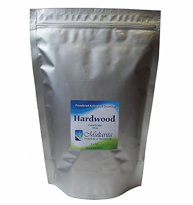 1 lb Hardwood Activated Charcoal Powder Very Fine Premium Food Grade Carbon
