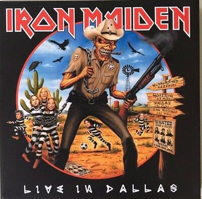 "Iron Maiden ""live In Dallas"" Rare Double Cd Live Neuf !"