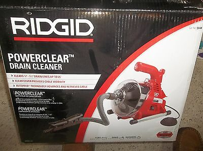 RIDGID PowerClear Drain Cleaner  # 55808 .USED ONCE. EXCELLENT CONDITION.