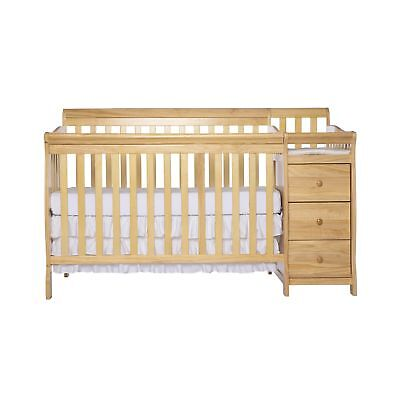 Dream On Me 5 in 1 Brody Convertible Crib with Changer Natural New