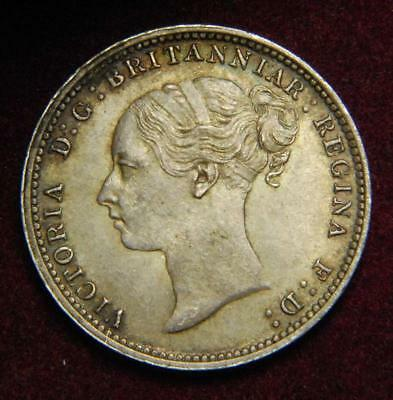 GB Victoria Young Head silver threepence 3d 1887 - GREAT!!!