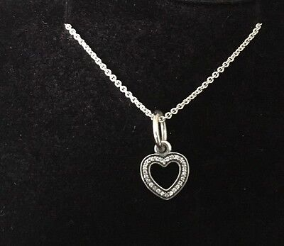 a59ad68bd ... hot pandora be my valentine necklace clear cz charm 390325cz chain  590412 45 71823 9a1ba