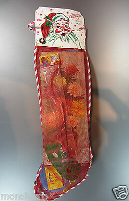 Vintage UNUSED SEALED Christmas Stocking Filled With Toys Hong Kong usa 24 in