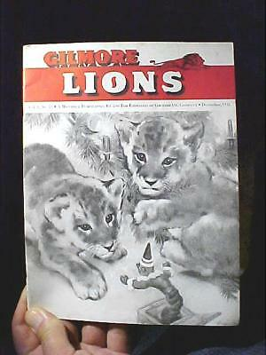 "1943 ORIGINAL & RARE Gilmore Gas ""GILMORE LIONS"" in-house publication MAKE OFFER"