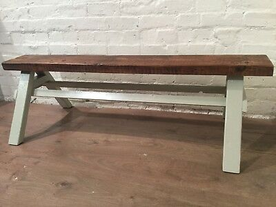 Our 5ft Architects Bench - HandMade in Solid Pine with a Reclaimed Pine Beam Top
