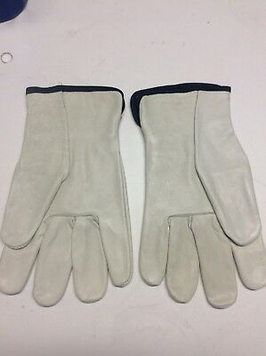 Leather Drivers / Work Gloves, Cowhide XL New Pair