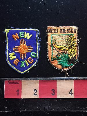 Pair Of Vintage New Mexico Patch Emblems 73B4