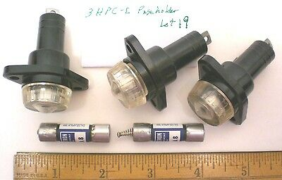 3 HPC-C  Fuseholders for FNA Fuses, 15A  250V  BUSSMANN, Lot 19, Made in USA