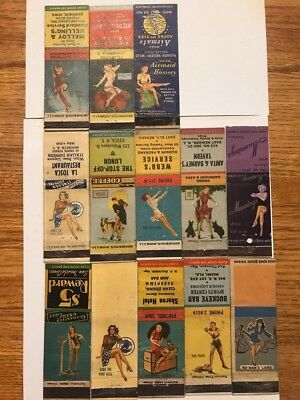 lot of 13 vintage ~ Pin up ~ girlie MATCHBOOKS ~1940s -1950s