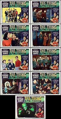 THE THING FROM ANOTHER WORLD Complete Set Of 9 Individual 8x10 LC Prints 1951