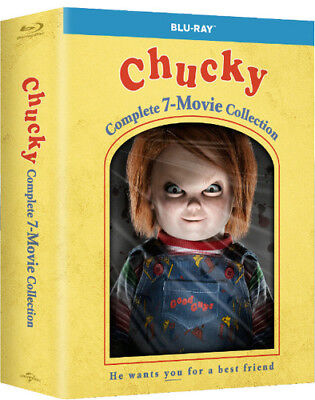 Chucky: Complete 7-Movie Collection (2017, Blu-ray NUEVO) (REGION A)