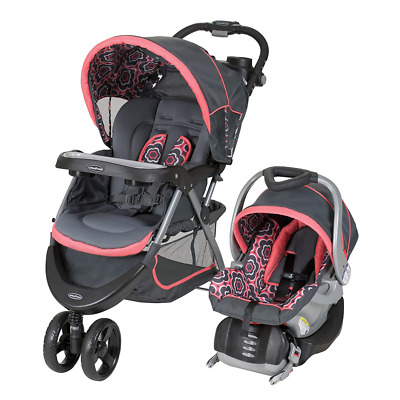 Baby Trend Nexton Travel System Stroller Car Seat Jogger Combo, Coral Floral