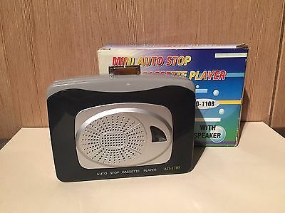 MINI AUTO Walkman Cassette Player With Speaker -Tested & Working