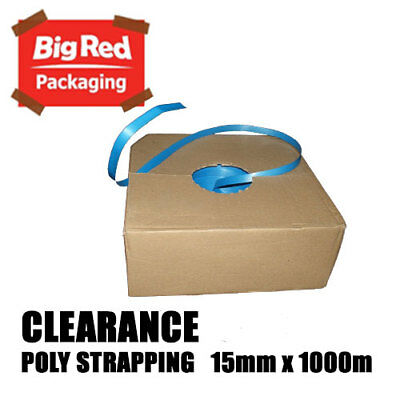 *CLEARANCE*  15mm x 1000m Blue Band Poly Strap 100kg load