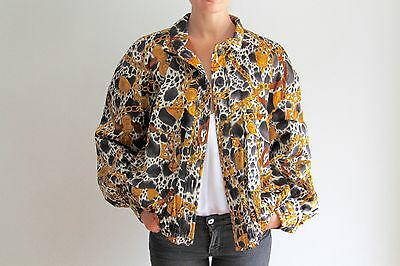 ESCADA Dalmation Print Vintage Bomber Jacket, Coat, Shirt, Top, Blouse, Size 40