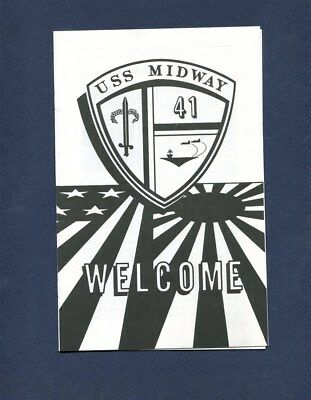 CV-41 CVA-41 USS MIDWAY CARRIER WELCOME ABOARD PAMPHLET US Navy Ship Squadron