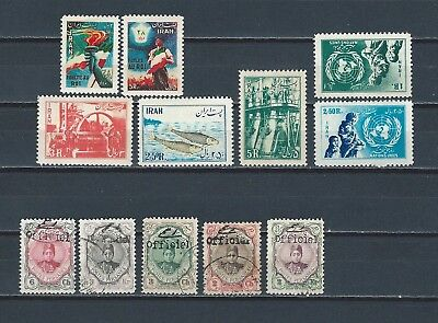 Middle East Persia early shah nice selection of mint and used stamps - see scans