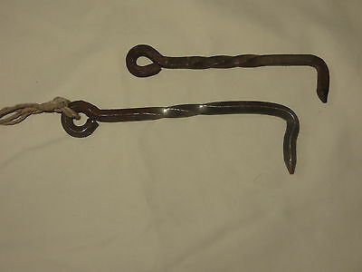 2  Twisted Hooks, Latch for Gate, Barn Door, Shed, Antique. Vintage, Rustic