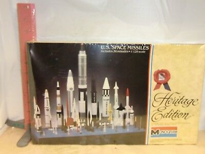 Monogram U.s. Space Missiles Kit , 1/128 Scale Kit , New In Wrapper From 1983