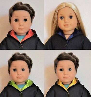 "Handmade Harry Potter Costumes 4 House Colors for 18"" American Girl Boy Dolls"