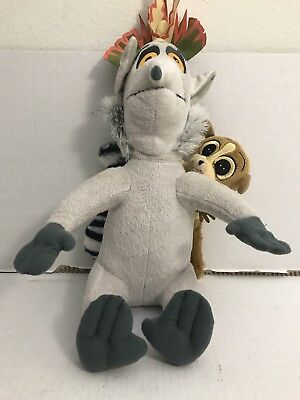 The Penguins Of Madagascar 12 Talking King Julien With Mort Attached Plush