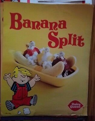 Vintage Dennis the Menace Banana Split Dairy Queen Poster