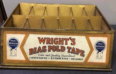Counter Display Case For ''wright's'' Bias Fold Tapes 0Ther Sewing Essentials