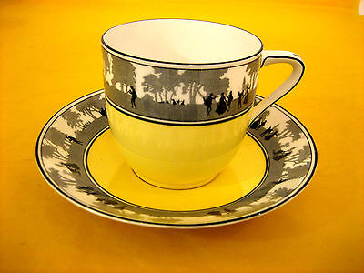 ART DECO FOLEY CHINA SILHOUETTE TEA CUP&SAUCER some surface scratches  (0.3/410)
