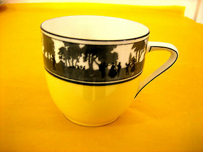 ART DECO FOLEY CHINA SILHOUETTE TEA CUP some surface scratches  (0.2/463)